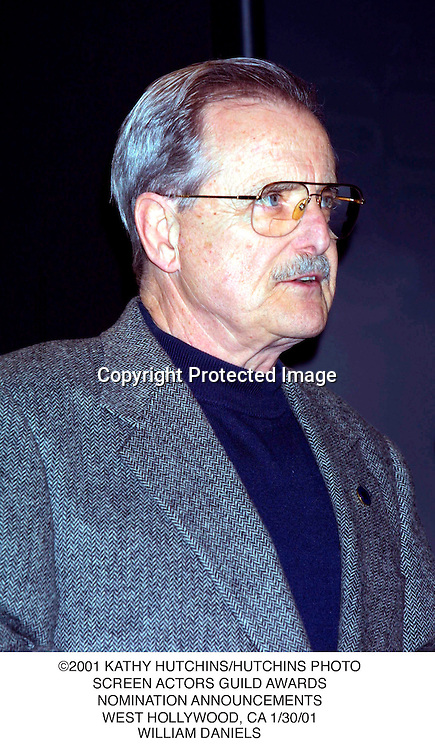 ©2001 KATHY HUTCHINS/HUTCHINS PHOTO.SCREEN ACTORS GUILD AWARDS.NOMINATION ANNOUNCEMENTS.WEST HOLLYWOOD, CA 1/30/01.WILLIAM DANIELS