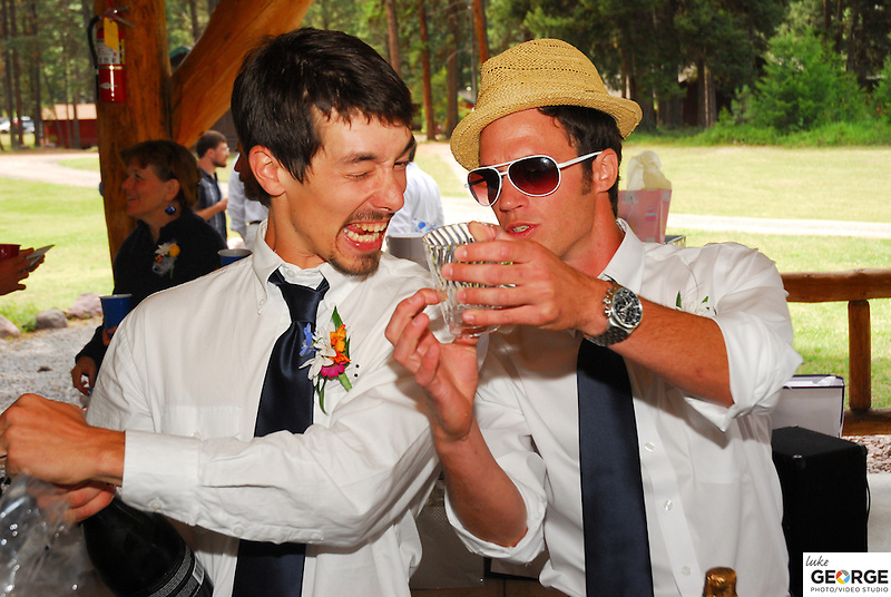 Bailey Iott and Jack Minnich's 2010 Montana wedding at University of Montana's Lubrecht Experimental Forest.