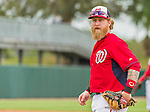 7 March 2015: Washington Nationals first baseman Mike Carp in Spring Training action against the St. Louis Cardinals at Space Coast Stadium in Viera, Florida. The Nationals rallied to defeat the Cardinals 6-5 in Grapefruit League play. Mandatory Credit: Ed Wolfstein Photo *** RAW (NEF) Image File Available ***