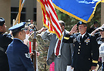 Nevada National Guard Brig. Gen. Zachary Doser, right, salutes during the National Anthem at the 2016 Flag Day & Army Birthday ceremony at the Capitol in Carson City, Nev., on Tuesday, June 14, 2016.<br />