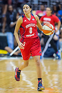Washington, DC - July 22, 2016: Washington Mystics guard Bria Hartley (8) in action during game against the Los Angeles Sparks at the Verizon Center in Washington, DC. (Photo by Phil Peters/Media Images International)