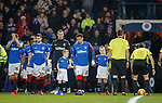 Rangers mascots with the team