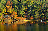 Cottages on Lake of Bays<br /> Lake of Bays near Dorset<br /> Ontario<br /> Canada