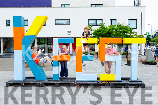 Ciann, Niamh and Donagh Casey with Deirdre O'Brien having fun at Kfest in Killorglin on Sunday