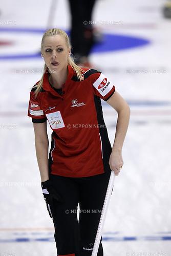 Lehmann Nadine (SUI), <br /> MARCH 19, 2015 - Curling : World Women's Curling Championship 2015 Round Robin match between Switzerland and Scotland at Tsukisamu Gymnasium in Sapporo, Hokkaido, Japan. (Photo by Jun Tsukida/AFLO SPORT)