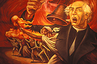 Painting of Mexican revolutionary hero Miguel Hidalgo delivering the Grito de Dolores or Grito de Independencia on November 16, 1810. On display in the Museo Casa de Hidalgo, his former home in the town of Dolores Hidalgo, Mexico.