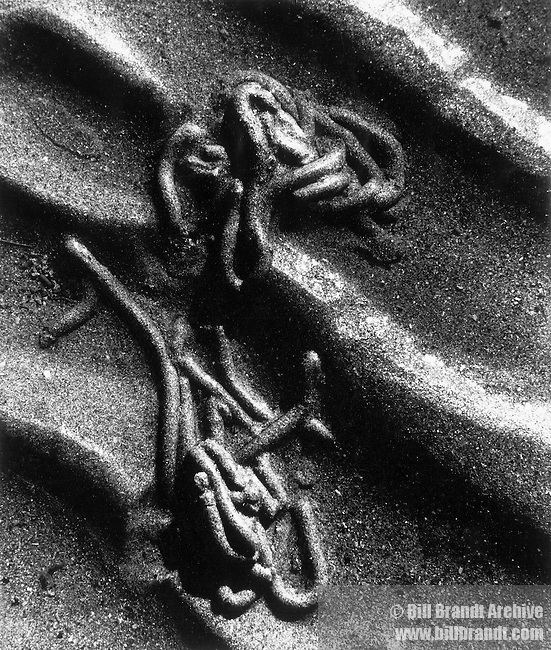 Chain in sand, 1962 Varengeville, Normandy
