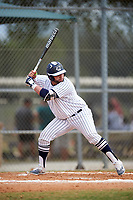 Western Connecticut Colonials designated hitter Kevin DeCastro (54) at bat during the second game of a doubleheader against the Edgewood College Eagles on March 13, 2017 at the Lee County Player Development Complex in Fort Myers, Florida.  Edgewood defeated Western Connecticut 3-1.  (Mike Janes/Four Seam Images)