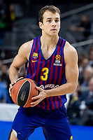 Kevin Pangos of FC Barcelona Lassa during Turkish Airlines Euroleague match between Real Madrid and FC Barcelona Lassa at Wizink Center in Madrid, Spain. December 13, 2018. (ALTERPHOTOS/Borja B.Hojas) /NortePhoto.com