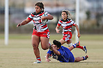 Action during the NZRL National Women's Tournament, Bruce Pullman Park, Auckland, Friday 26 July 2019. Photo: Simon Watts/www.bwmedia.co.nz