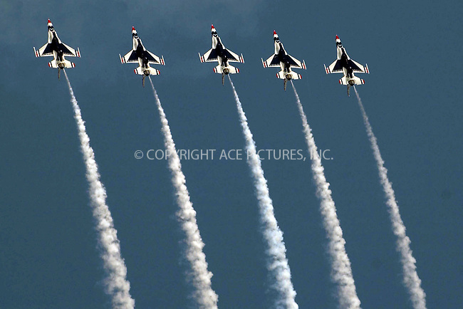 WWW.ACEPIXS.COM . . . . . ....NEW YORK, AUGUST 23, 2006....US Navy Blue Angels and the Thunderbirds put on a demonstration as they fly over the beach in Atlantic City/....Please byline: KRISTIN CALLAHAN - ACEPIXS.COM.. . . . . . ..Ace Pictures, Inc:  ..(212) 243-8787 or (646) 679 0430..e-mail: picturedesk@acepixs.com..web: http://www.acepixs.com