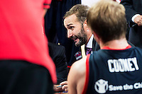 Baskonia's coach Sito Alonso during the match of the semifinals of Supercopa of La Liga Endesa Madrid. September 23, Spain. 2016. (ALTERPHOTOS/BorjaB.Hojas)