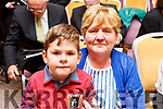 Ann Marie McCarthy with her grandson Darragh at the Baile Mhuire Concert fundraiser in the Rose Hotel on Sunday.
