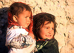 Two Afghan refugee girls in Pakistan.