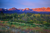 SUnrise and St. Elias Mountains<br /> Kluane National Park<br /> Yukon<br /> Canada
