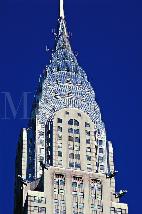 USA,New York, New York City. Close-up of the upper level of the Chrysler Building..NO PROPERTY RELEAS