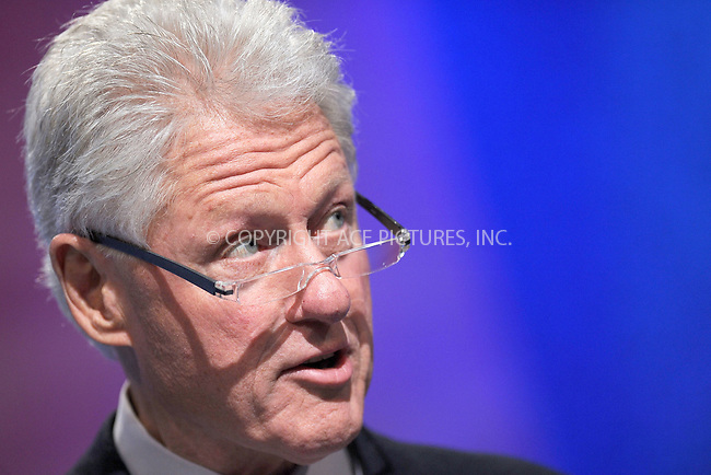 WWW.ACEPIXS.COM . . . . . .September 22, 2010...New York City...Bill Clinton at the Clinton Global Initiative on September 22, 2010 in New York City....Please byline: KRISTIN CALLAHAN - ACEPIXS.COM.. . . . . . ..Ace Pictures, Inc: ..tel: (212) 243 8787 or (646) 769 0430..e-mail: info@acepixs.com..web: http://www.acepixs.com .
