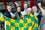 Kerry's Eye All Ireland Ticket Winners Tommy Broderick, Eileen O'Connor, Mary Moriarty Pat Loughnane with Brendan Kennelly, Kerry's Eye centre.