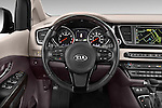 Car pictures of steering wheel view of a 2015 KIA Sedona SX Limited 4 Door Minivan Steering Wheel