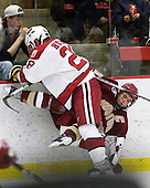 Chris Huxley (Harvard - 28), Matt Price (BC - 25) - The Boston College Eagles defeated the Harvard University Crimson 3-2 on Wednesday, December 9, 2009, at Bright Hockey Center in Cambridge, Massachusetts.