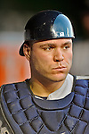 15 June 2012: New York Yankees catcher Russell Martin prepares to resume play during a game against the Washington Nationals at Nationals Park in Washington, DC. The Yankees defeated the Nationals 7-2 in the first game of their 3-game series. Mandatory Credit: Ed Wolfstein Photo