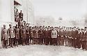Iran 1930?. Soldiers and civilians in Tabriz, wearing hats  .Iran 1930? .Soldats du Shah et civils portant un chapeau a Tabriz.