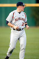 Kevin Patterson, Auburn Tigers in a series at Arizona State University, 3/12 - 3/14/2010 .Photo by:  Bill Mitchell/Four Seam Images.