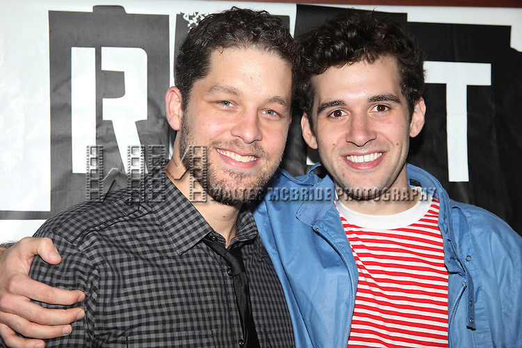 Ben Thompson & Adam Chanler-Berat.attending the Off-Broadway Opening Night After Party for 'RENT' at Glass House Tavern in New York City....