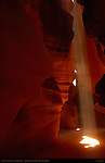 Beam of Light, Upper Antelope Canyon, Tse-Bighanilini, Slot Canyon, Lake Powell Navajo Tribal Park, Page, Arizona