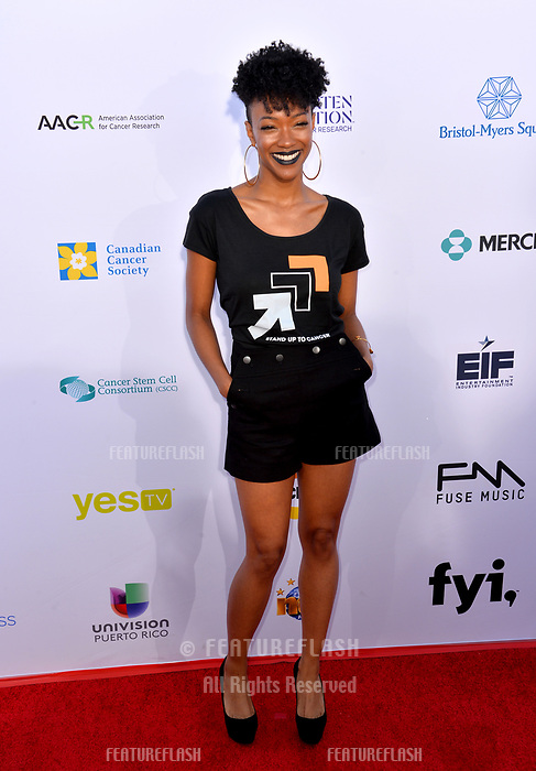 SANTA MONICA, CA. September 07, 2018: Sonequa Martin-Green  at the 2018 Stand Up To Cancer fundraiser at Barker Hangar, Santa Monica Airport.