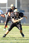 Palos Verdes, CA 10/02/09 - The Vista Murietta Broncos visited the Peninsula Panthers in a non-league contest, won 43-21 by Vista Murietta.  In action are Unknown Peninsula Player (PNK)