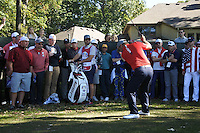 Ryan Moore (Team USA) on the 6th fairway during the Friday afternoon Fourball at the Ryder Cup, Hazeltine national Golf Club, Chaska, Minnesota, USA.  30/09/2016<br /> Picture: Golffile | Fran Caffrey<br /> <br /> <br /> All photo usage must carry mandatory copyright credit (&copy; Golffile | Fran Caffrey)