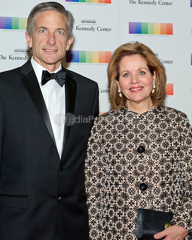 Renee Fleming and her husband, Tim Jessel, arrive for the formal Artist's Dinner honoring the recipients of the 38th Annual Kennedy Center Honors hosted by United States Secretary of State John F. Kerry at the U.S. Department of State in Washington, D.C. on Saturday, December 5, 2015. The 2015 honorees are: singer-songwriter Carole King, filmmaker George Lucas, actress and singer Rita Moreno, conductor Seiji Ozawa, and actress and Broadway star Cicely Tyson.<br /> Credit: Ron Sachs / Pool via CNP/MediaPunch