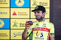3th place finisher Baptiste Planckaert (BEL/Bingoal-WB)<br /> <br /> Antwerp Port Epic 2020 <br /> One Day Race: Antwerp to Antwerp 183km; of which 28km are cobbles and 35km is gravel/off-road<br /> Bingoal Cycling Cup 2020