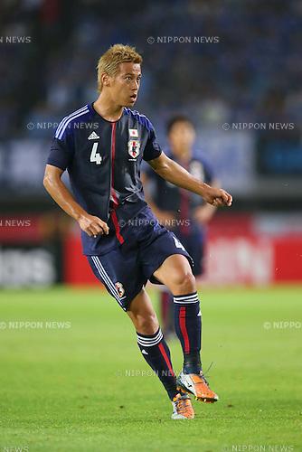 Keisuke Honda (JPN), <br /> AUGUST 14, 2013 - Football / Soccer : <br /> KIRIN Challenge Cup 2013 match <br /> between Japan 2-4 Uruguay <br /> at Miyagi Stadium, Miyagi, Japan.<br />  (Photo by AFLO SPORT)