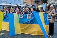 Manifestazione contro l'aggressione della Russia in Ucraina