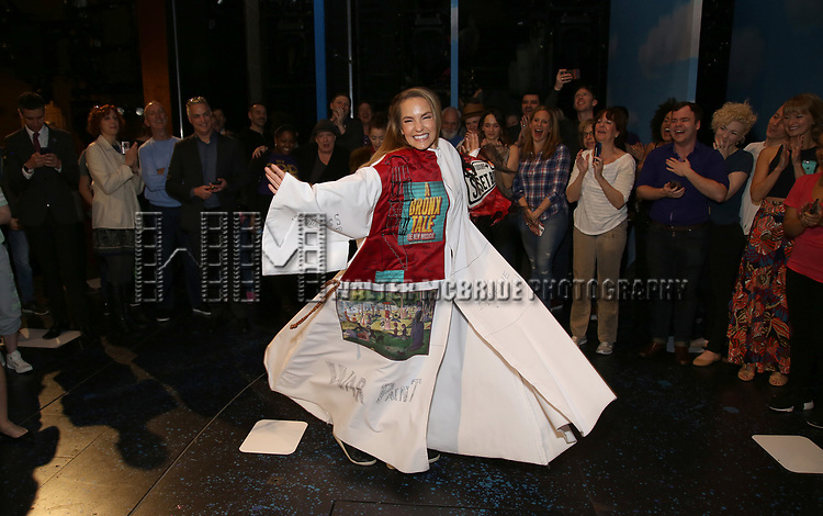 Katie Webber during the Actors' Equity Gypsy Robe Ceremony honoring Katie Webber for  'Charlie and the Chocolate Factory' at the Lunt-Fontanne Theatre on April 23, 2017 in New York City.
