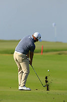 Zander Lombard (RSA) during the second round of the NBO Open played at Al Mouj Golf, Muscat, Sultanate of Oman. <br /> 16/02/2018.<br /> Picture: Golffile | Phil Inglis<br /> <br /> <br /> All photo usage must carry mandatory copyright credit (&copy; Golffile | Phil Inglis)