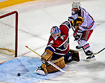4 December 2008: Montreal Canadiens' goaltender Carey Price gives up his first goal of the evening to New York Rangers' left wing forward Markus Naslund from Sweden in the second period at the Bell Centre in Montreal, Quebec, Canada. The Canadiens, celebrating their 100th season, played in the circa 1915-1916 uniforms for the evenings' Original Six matchup. *****Editorial Use Only*****..Mandatory Photo Credit: Ed Wolfstein Photo