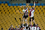 Andrew Van der Heijden taps back lineout ball. Air New Zealand Cup rugby game between Counties Manukau Steelers & North Harbour, played at Mt Smart Stadium on August 10th, 2007. The game ended in a 13 all draw.