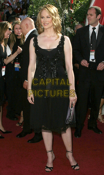 LAURA LINNEY.56th Annual Prime Time Emmy Awards held at the Shrine Auditorium. .September 19th, 2004.full length, black dress.www.capitalpictures.com.sales@capitalpictures.com.©Don Shaffer/AdMedia/Capital Pictures.