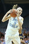 24 November 2012: North Carolina's Megan Buckland. The University of North Carolina Tar Heels played the La Salle University Explorers at Carmichael Arena in Chapel Hill, North Carolina in an NCAA Division I Women's Basketball game. UNC won the game 85-55.