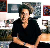 Eleni Milona portrait<br /> <br /> Witnessing the love of the owner for the sea, this unique house is decorated with aquatic patterns and objects and artworks collected from various countries around the world.