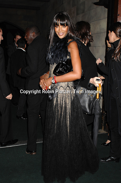 Naomi Campbell ..arriving at The 7th on Sale Black Tie Gala Dinner on ..November 15, 2007 at The 69th Regiment Armory in New York. The Fashion Industry's Battle Against HIV and AIDS..will benefit...Robin Platzer, Twin Images