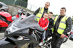 """Ken Smith and David Carney with Adam and Dylan McKenna before the """"Run of the Country"""" Motorcycle fundraiser at St.Itas school...(Photo credit should read Jenny Matthews www.newsfile.ie)....This Picture has been sent you under the conditions enclosed by:.Newsfile Ltd..The Studio,.Millmount Abbey,.Drogheda,.Co Meath..Ireland..Tel: +353(0)41-9871240.Fax: +353(0)41-9871260.GSM: +353(0)86-2500958.email: pictures@newsfile.ie.www.newsfile.ie."""