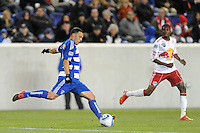 Daniel Hernandez (2) of FC Dallas. The New York Red Bulls defeated FC Dallas 2-1 during a Major League Soccer (MLS) match at Red Bull Arena in Harrison, NJ, on April 17, 2010.