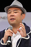 April 6, 2017, Tokyo, Japan - Taizo Son, younger brother of Internet tycoon Masayoshi Son and president of Mistletoe speaks at the first session of the New Economy Summit 2017 in Tokyo on Thursday, April 6, 2017. Entrepreneurs and venture companies leaders deliver speeches at a two-day seminnar.   (Photo by Yoshio Tsunoda/AFLO) LwX -ytd-