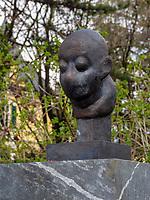 B&uuml;ste von Kafka an der Passerpromenade, Meran-Merano, Bozen &ndash; S&uuml;dtirol, Italien<br /> Bust of Kafka at Passerpromenade, Meran-Merano, province Bozen-South Tyrol, Italy