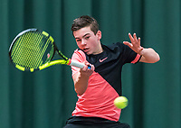 Wateringen, The Netherlands, March 16, 2018,  De Rhijenhof , NOJK 14/18 years, Nat. Junior Tennis Champ. Daniel Verbeek (NED)<br />  Photo: www.tennisimages.com/Henk Koster