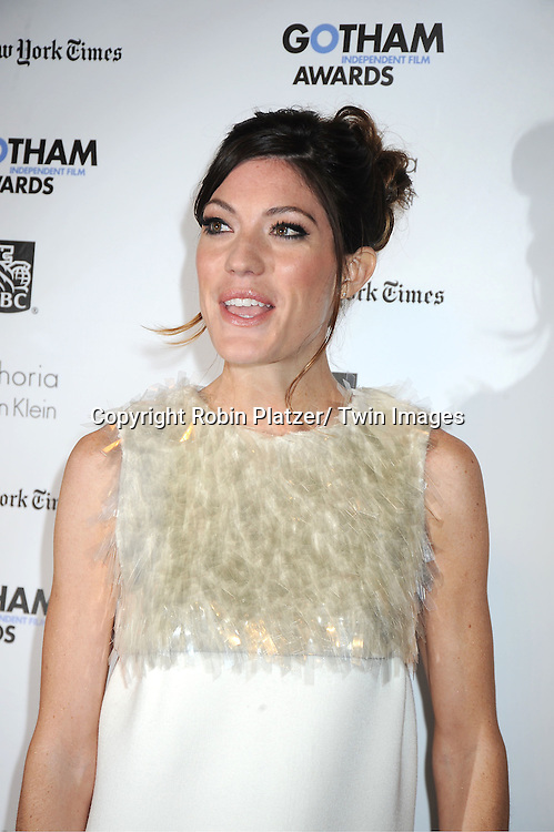 actress Jennifer Carpenter ttends IFP'S 21st Annual Gotham Independent Film Awards on November 28, 2011 at Cipriani Wall Street in New York City.